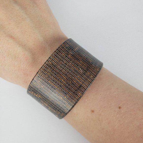 Color By Amber Copper Cuff Bracelet SZ S